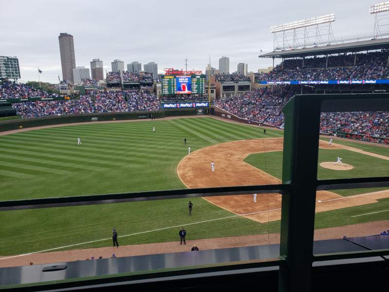 Seating view for Wrigley Field Section 307L Row 1 Seat 24