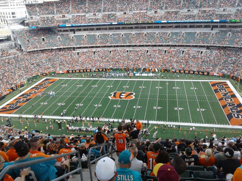 Seating view for Paul Brown Stadium Section 308 Row 26 Seat 24