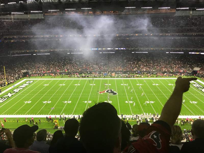 Seating view for NRG Stadium Section 533 Row MW Seat 13