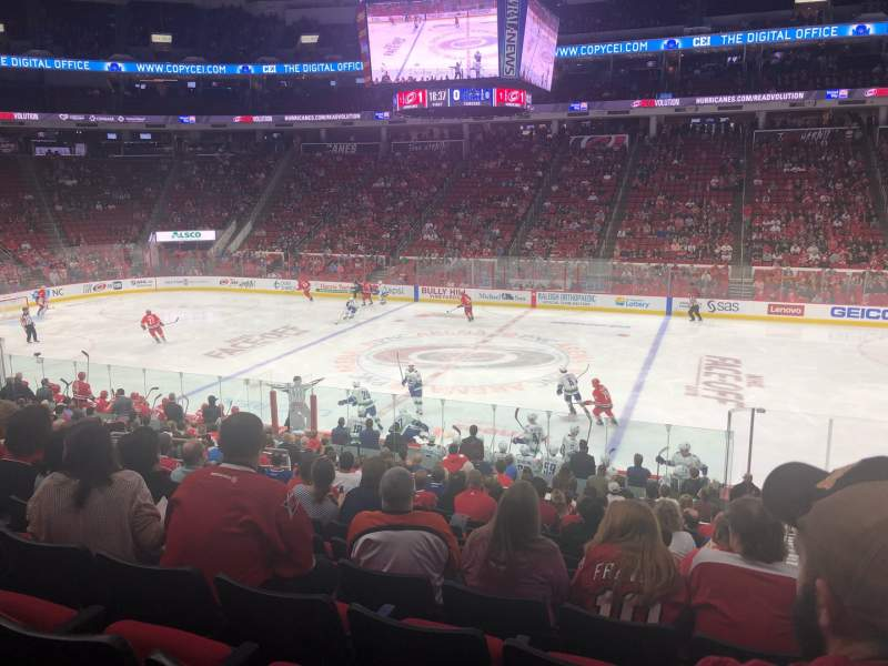 Seating view for PNC Arena Section 103 Row W