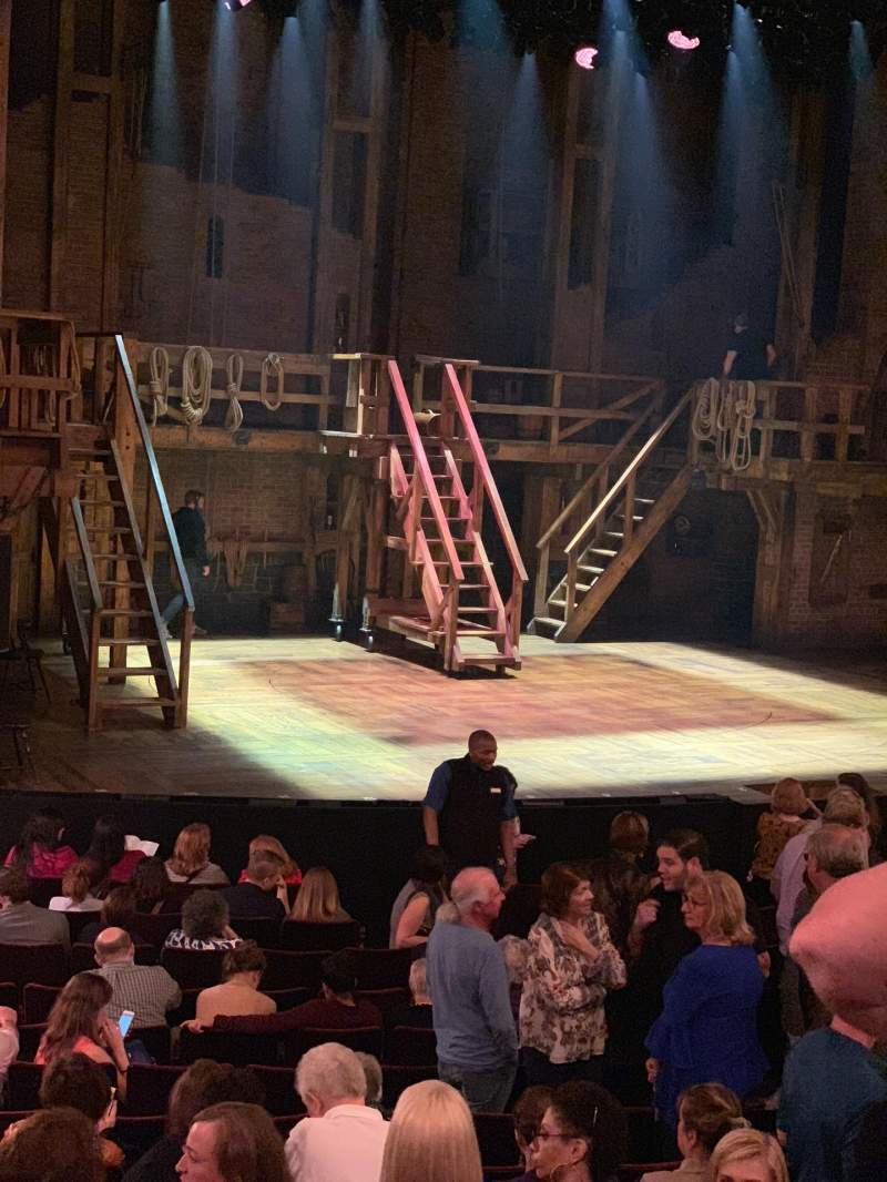 Seating view for Richard Rodgers Theatre Section Orchestra L Row P Seat 23