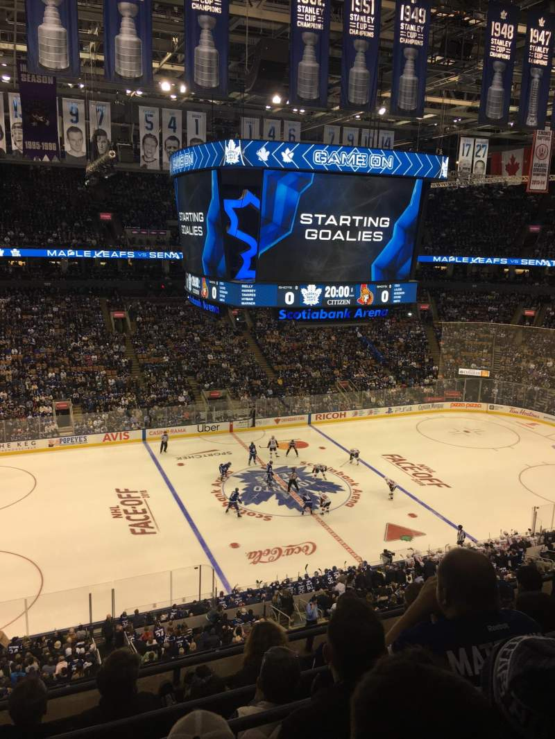 Seating view for Scotiabank Arena Section 322 Row 5 Seat 19