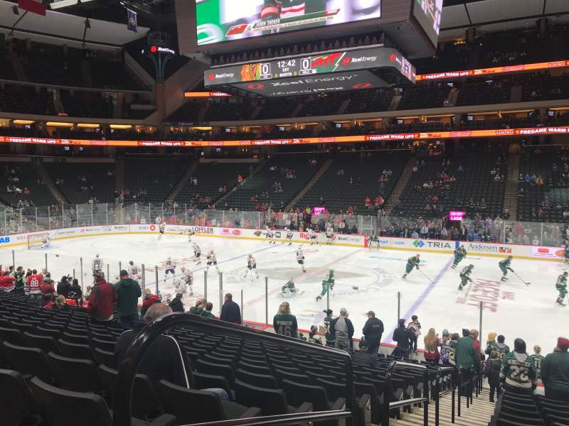 Seating view for Xcel Energy Center Section 102 Row 19 Seat 18