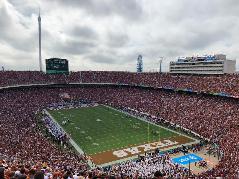 Seating view for Cotton Bowl Section 120 Row 32 Seat 7