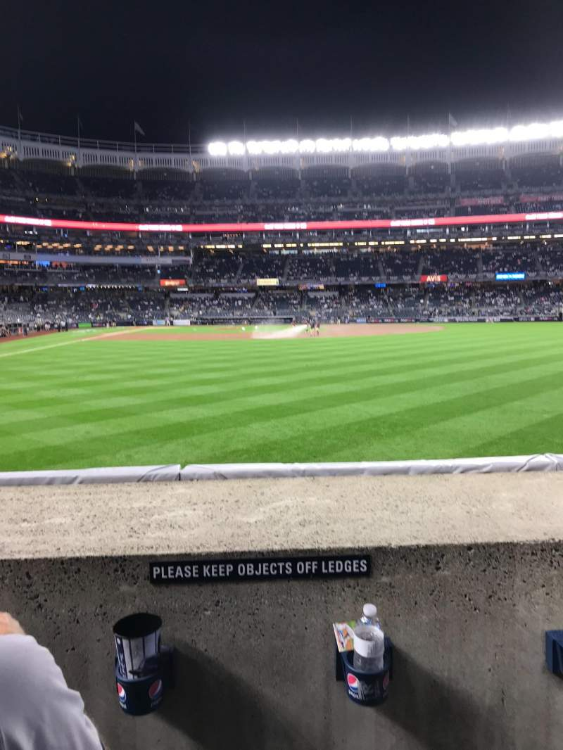 Seating view for Yankee Stadium Section 105 Row 2 Seat 17 - 18