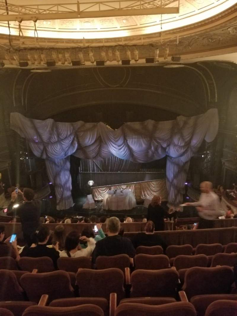 Seating view for Majestic Theatre Section Mezzanine Row F Seat 110
