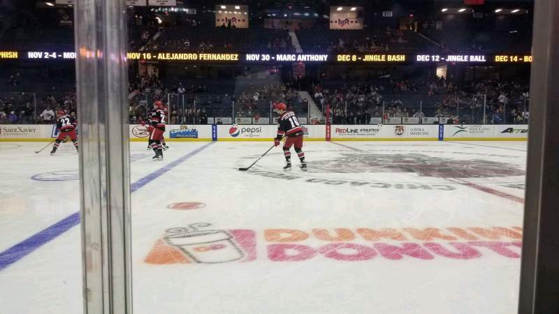 Seating view for Allstate Arena Section 103 Row AA Seat 9