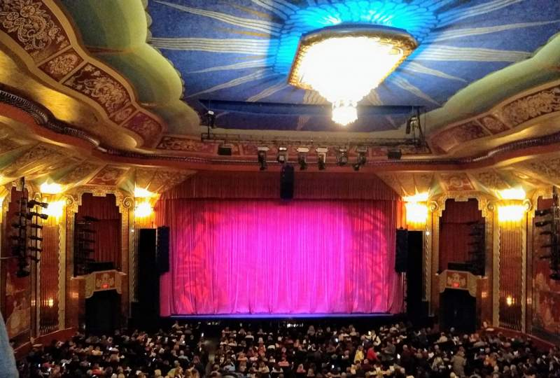 Seating view for Paramount Theatre (Aurora) Section Balcony Row DDD Seat 102