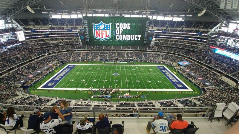 Seating view for AT&T Stadium Section 412 Row 29 Seat 7