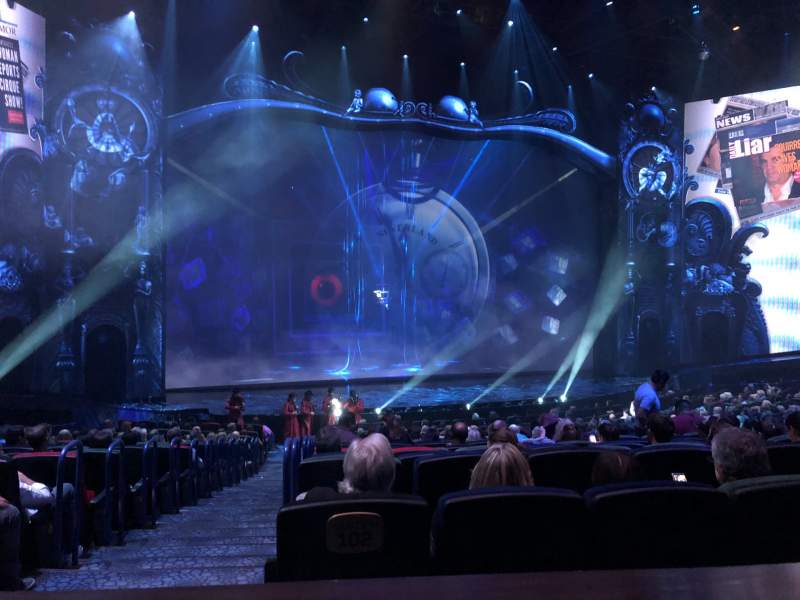 Seating view for Michael Jackson One Theatre Section 202 Row AA Seat 1