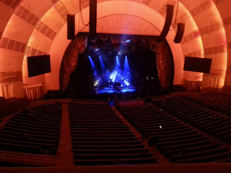 Seating view for Radio City Music Hall Section 2nd Mezzanine 6 Row A Seat 603