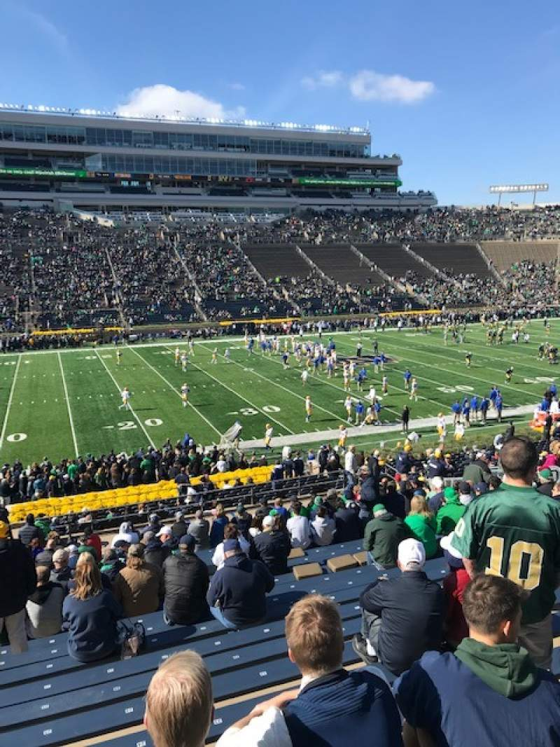 Seating view for Notre Dame Stadium Section 12 Row 44 Seat 25
