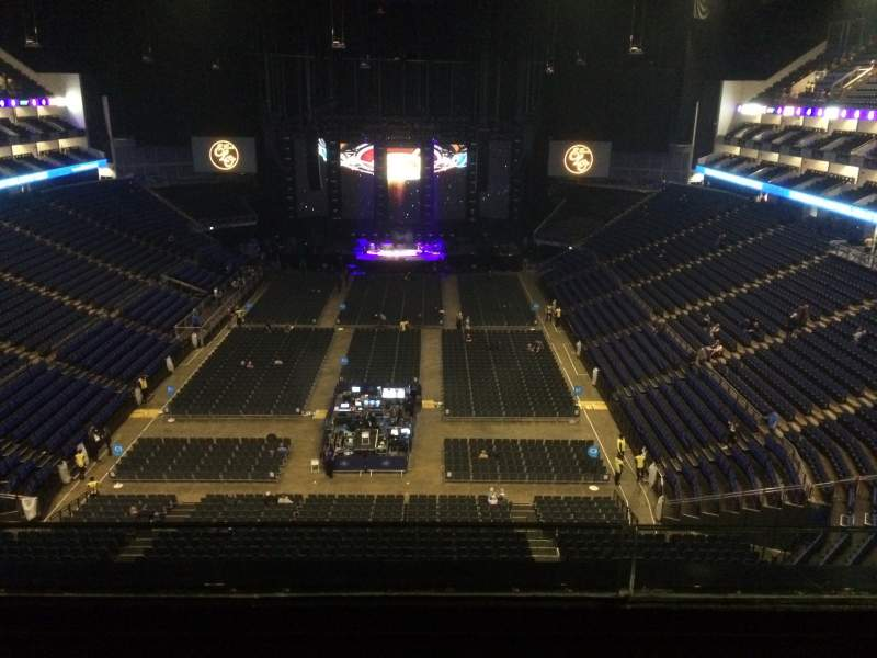 Seating view for The O2 Arena Section 412 Row B Seat 728