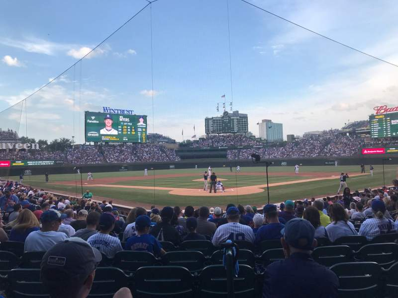 Seating view for Wrigley Field Section 121 Row 8