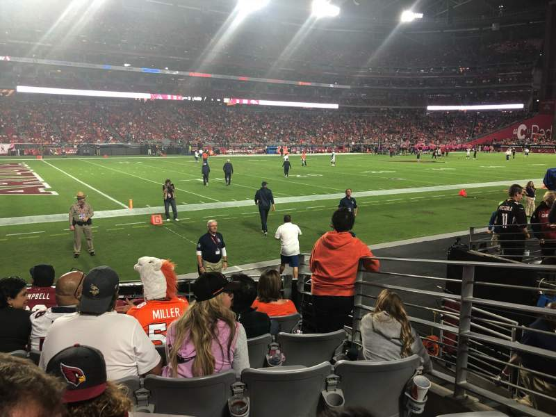 Seating view for State Farm Stadium Section 113 Row 6 Seat 22