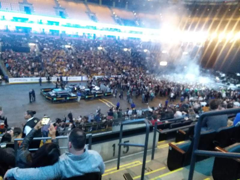 Seating view for TD Garden Section LOGE 3 Row 26 Seat 2