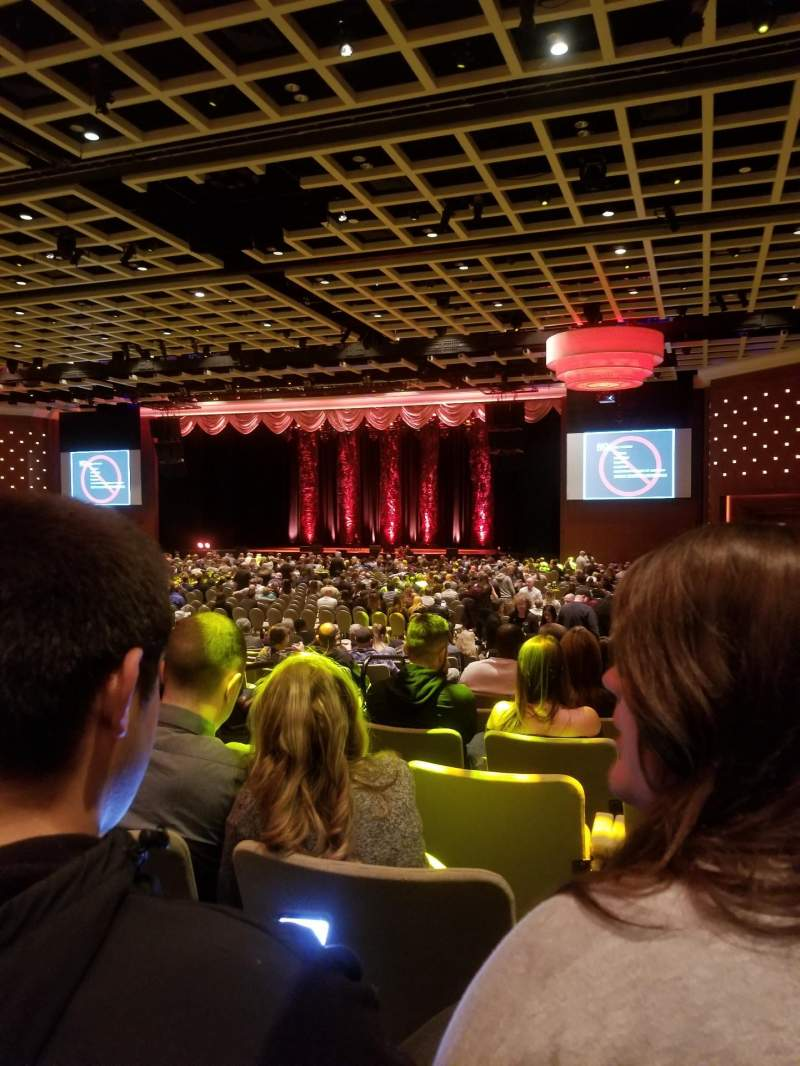 Seating view for Borgata Event Center Section E Row Q Seat 5