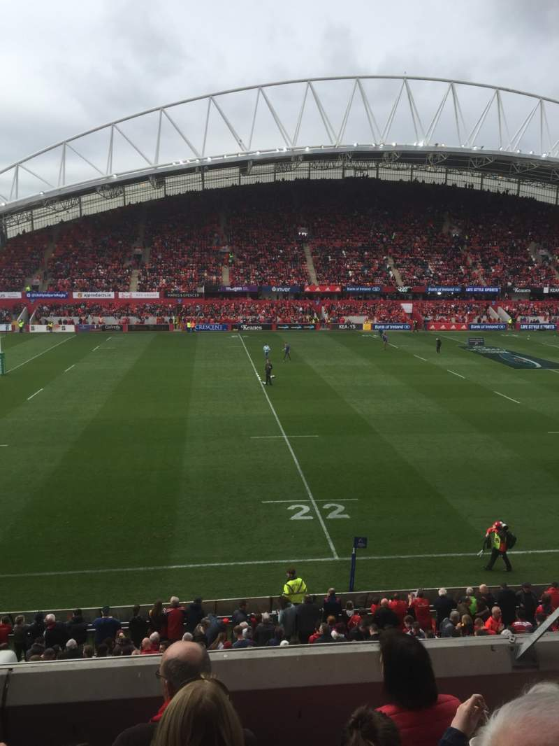 Seating view for Thomond Park Section 207 Row D Seat 188