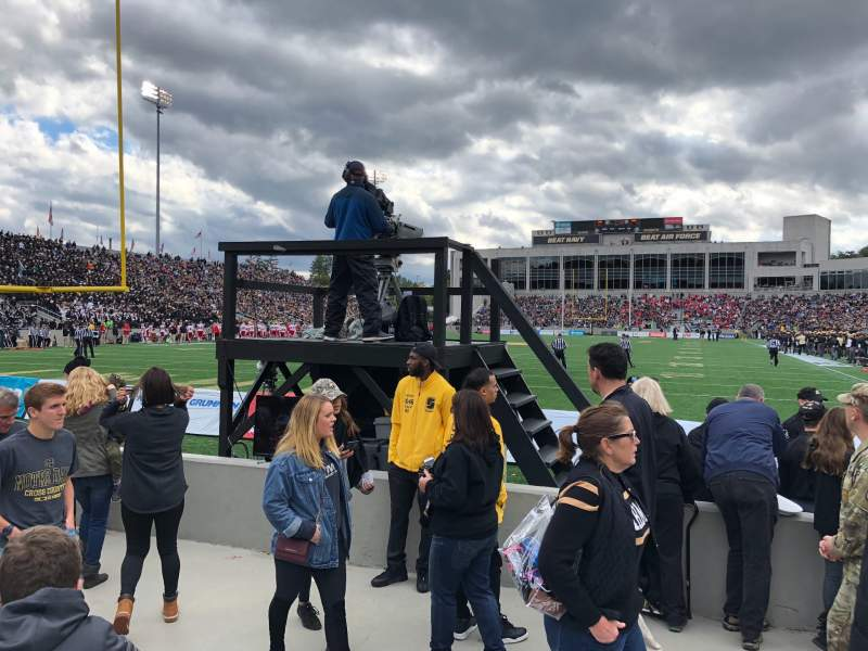 Seating view for Michie Stadium Section 20 Row E Seat 7and8