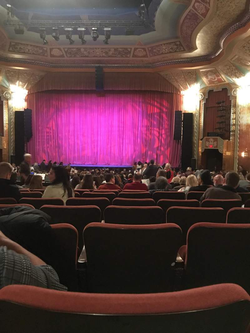 Seating view for Paramount Theatre (Aurora) Section Orchestra Row LL Seat 14