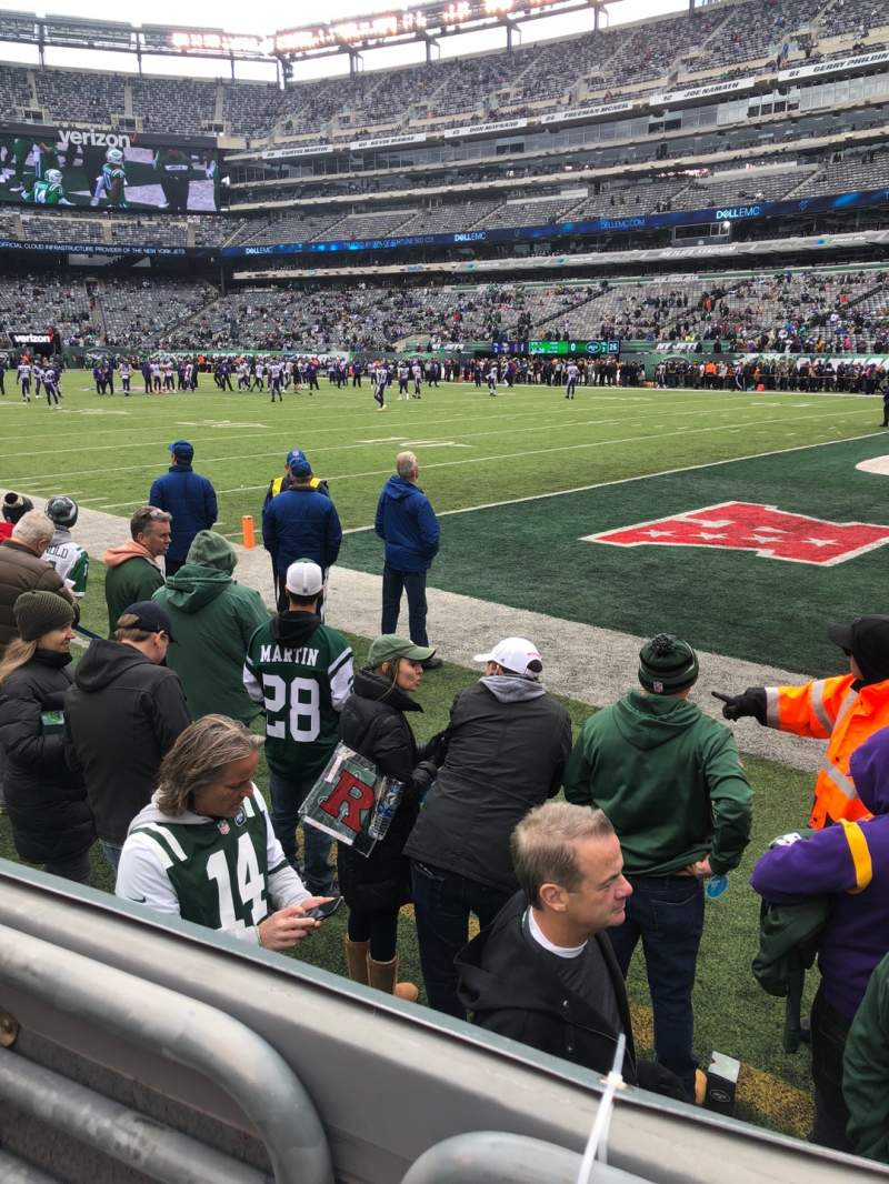 Seating view for MetLife Stadium Section 108 Row 2 Seat 1