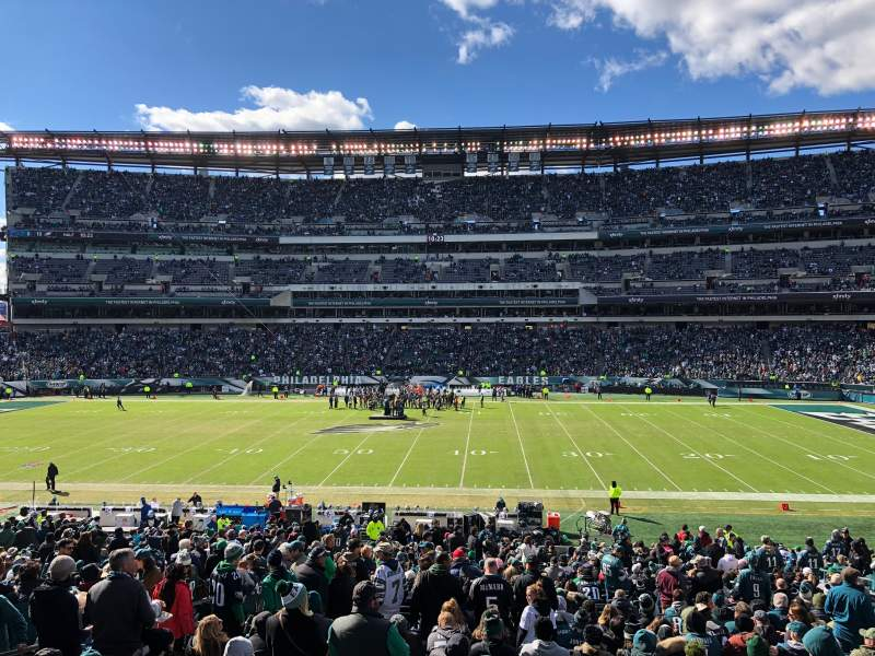 Seating view for Lincoln Financial Field Section 121 Row 33 Seat 14