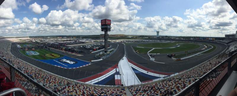 Seating view for Charlotte Motor Speedway Section 7 (Club Deck Grandstands) Row 1 Seat 11