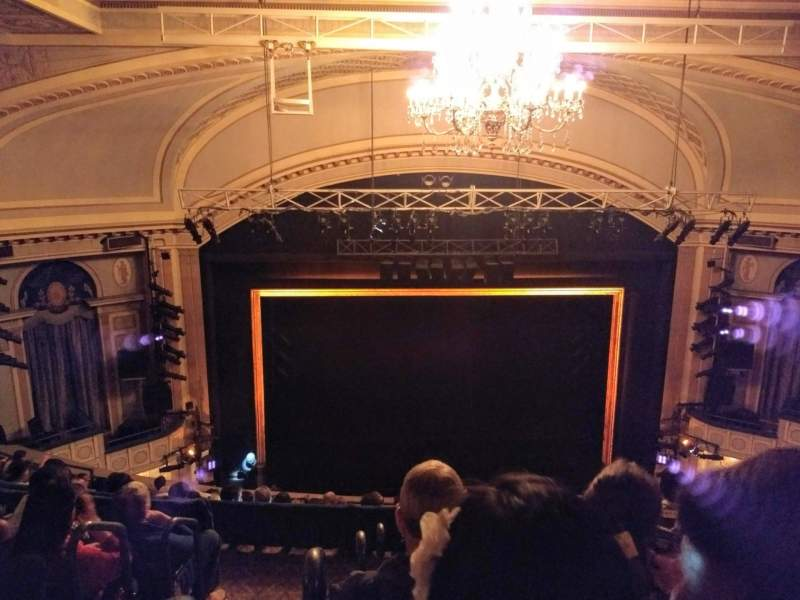 Seating view for Ambassador Theatre Section Rear Mezzanine RC Row E Seat 102and104