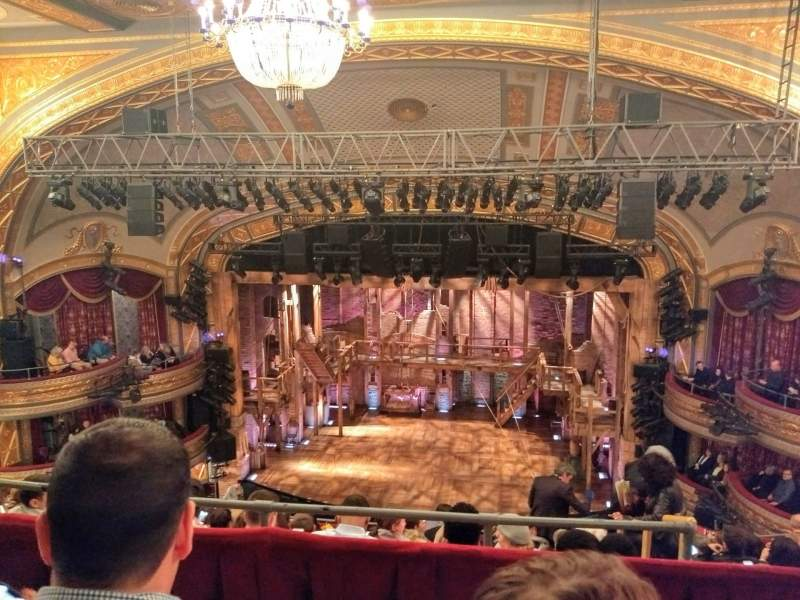 Seating view for Richard Rodgers Theatre Section Rear Mezzanine C Row B Seat 101and102