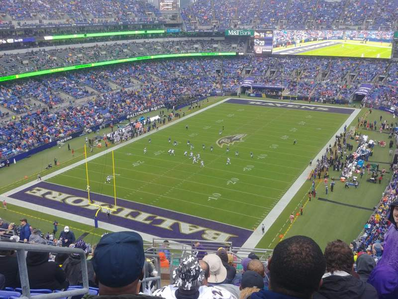 Seating view for M&T Bank Stadium Section 536 Row 18 Seat 21