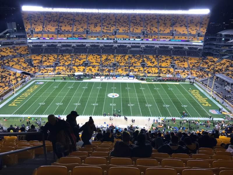 Seating view for Heinz Field Section 535 Row DD Seat 23