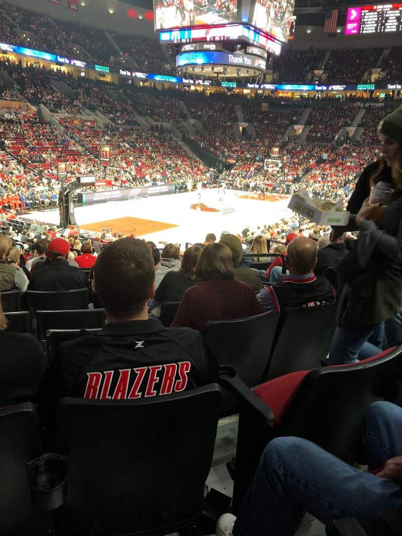 Seating view for Moda Center Section 116 Row N Seat 4