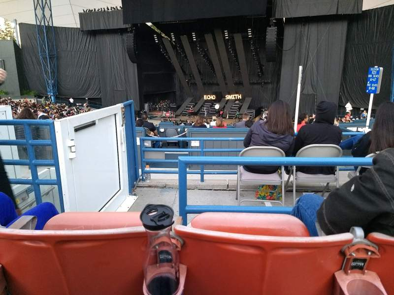 Seating view for Shoreline Amphitheatre Section 201 Row F