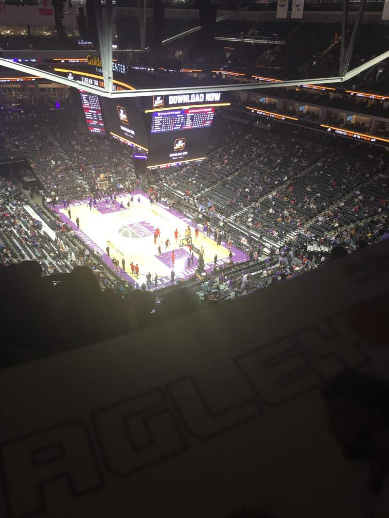 Seating view for Golden 1 Center Section 214 Row R Seat 5