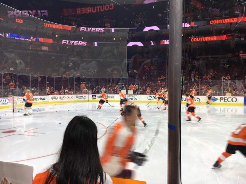 Seating view for Wells Fargo Center Section 124 Row 2 Seat 5