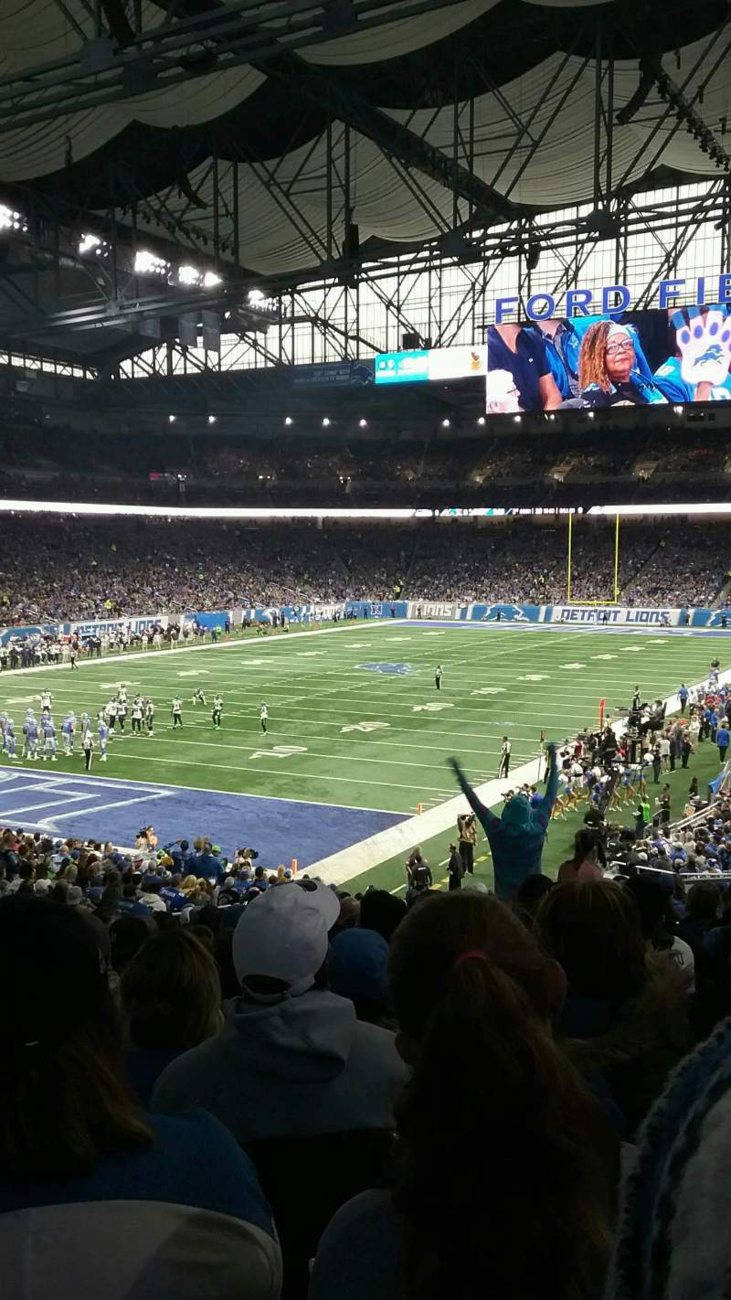 Seating view for Ford Field Section 141 Row 33 Seat 9