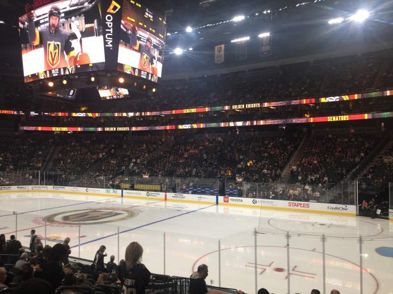 Seating view for T-Mobile Arena Section 18 Row M Seat 3