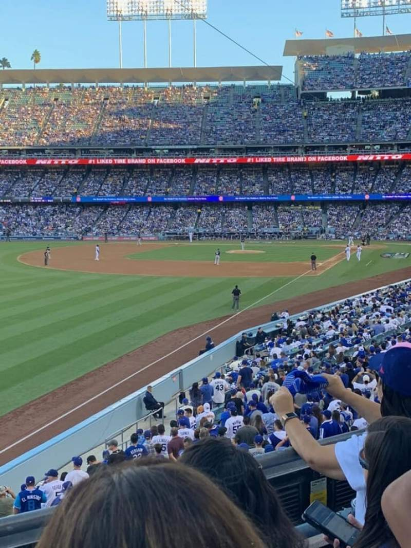 Seating view for Dodger Stadium Section 161LG Row C Seat 6