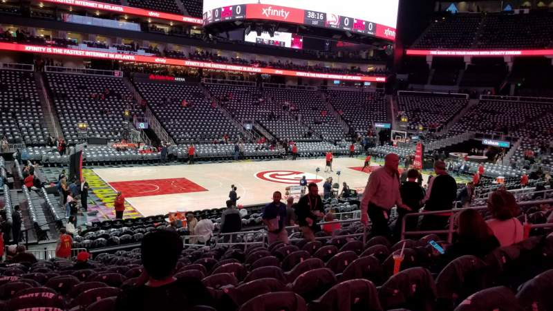 Seating view for State Farm Arena  Section 121 Row U Seat 11