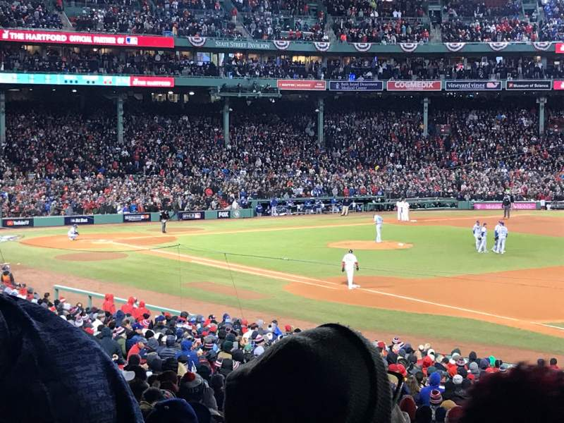 Seating view for Fenway Park Section Grandstand 11 Row 5 Seat 10
