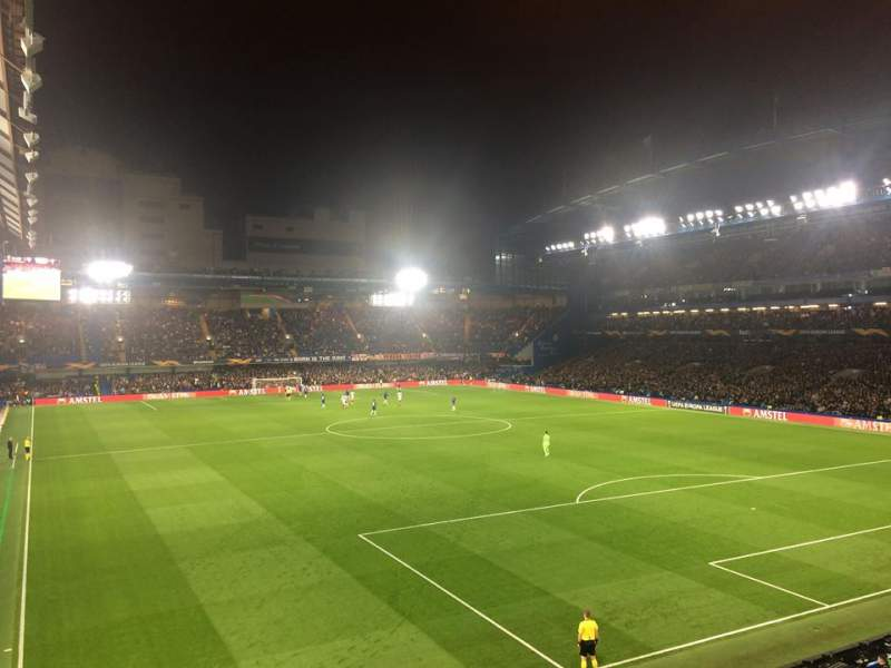 Seating view for Stamford Bridge Section Matthew Harding Upper 15 Row A Seat 152