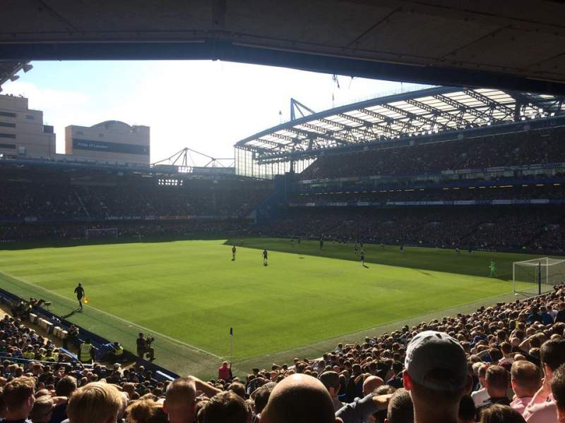 Seating view for Stamford Bridge Section Matthew Harding Upper, Block 16 Row AA Seat 179