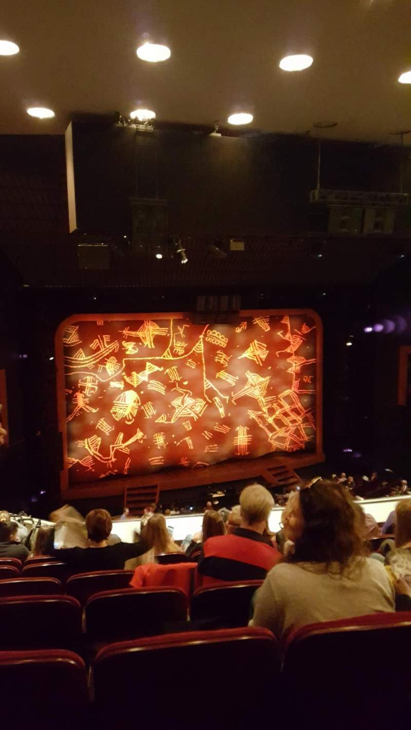 Seating view for Minskoff Theatre Section Mezzanine Row G Seat 105