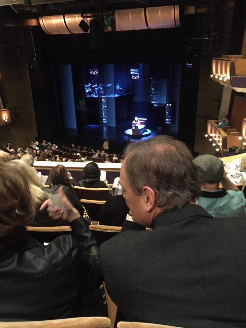Seating view for Ahmanson Theatre Section Mezzanine Row F Seat 6