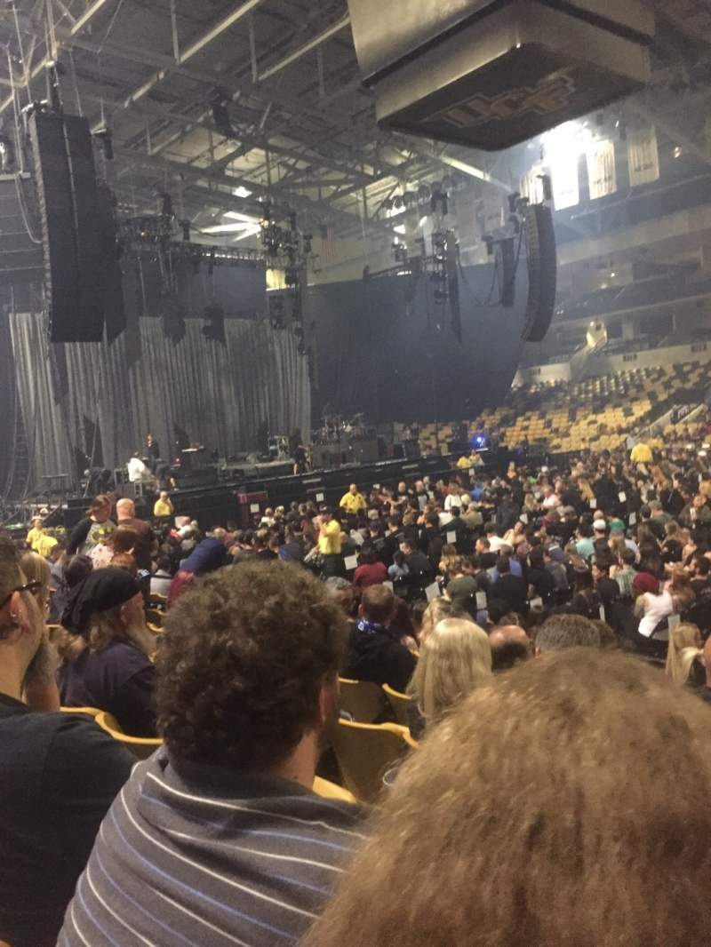 Seating view for Addition Financial Arena Section 105 Row H Seat 4