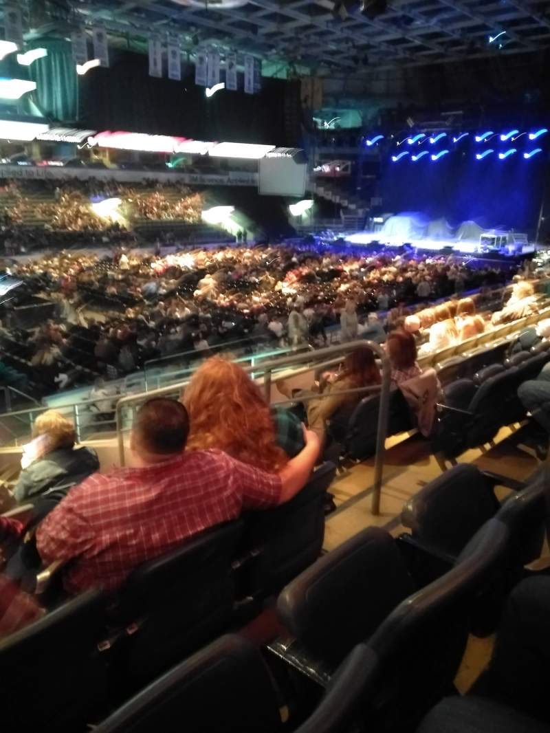 Seating view for Budweiser Gardens Section 107 Row Q Seat 4