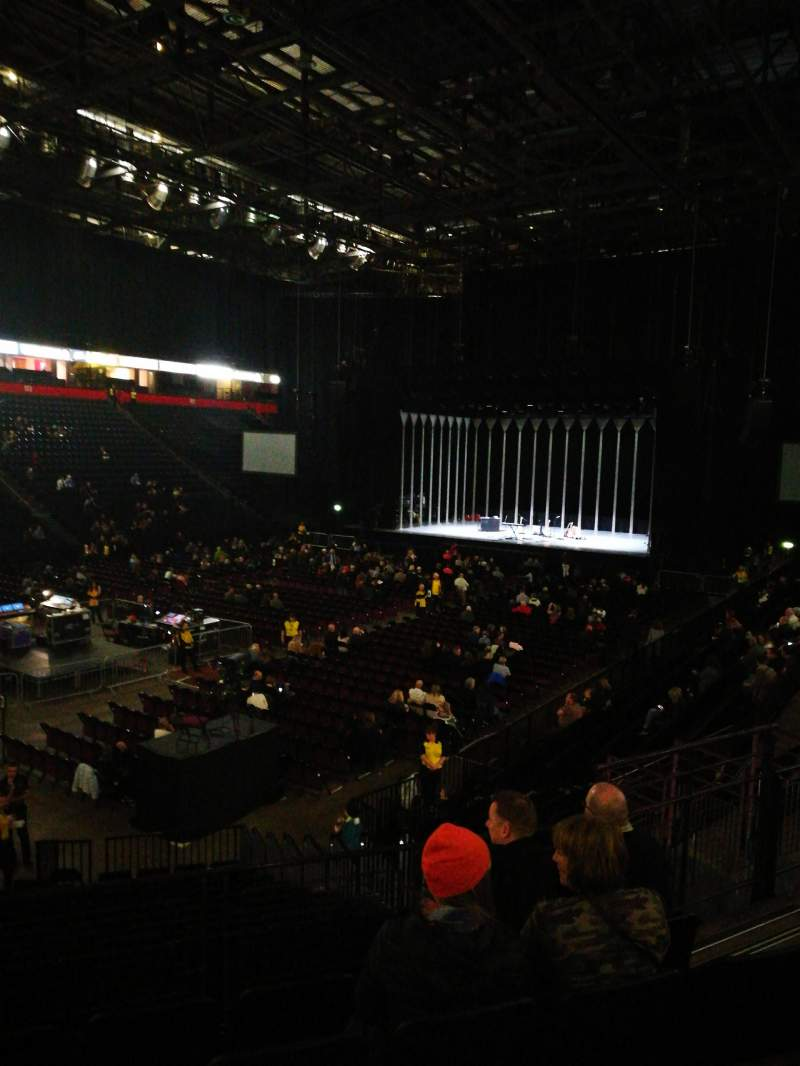 Seating view for Manchester arena Section 111 Row Q Seat 10