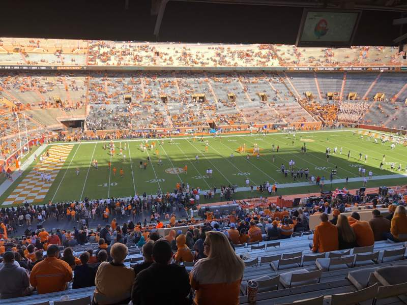 Seating view for Neyland Stadium Section W Row 57 Seat 9