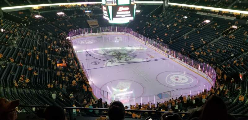 Seating view for Bridgestone Arena Section 332 Row C Seat 6