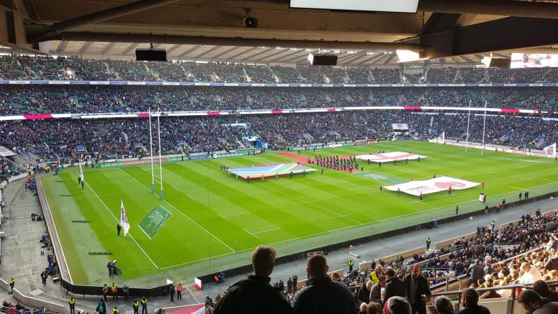 Seating view for Twickenham Stadium Section M38 Row 72 Seat 406